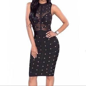 Dresses & Skirts - NWT Beautiful mesh black dress